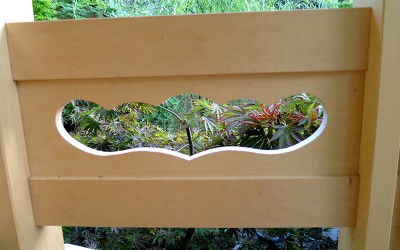 Garden structures ki arts for Balcony ki design