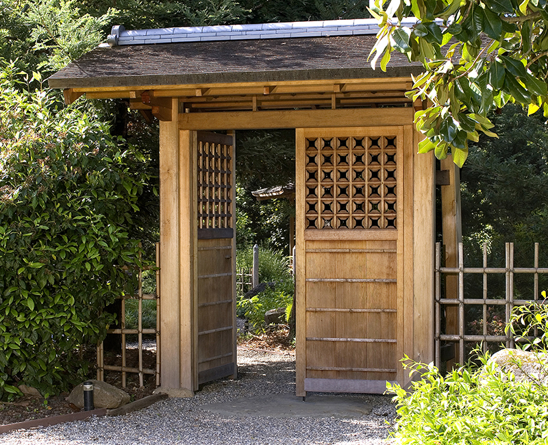 Entrance Gate To Japanese Garden