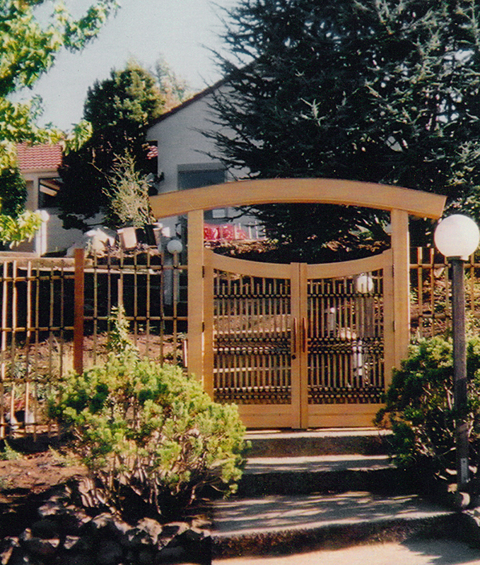 Entrance Gate And Fence
