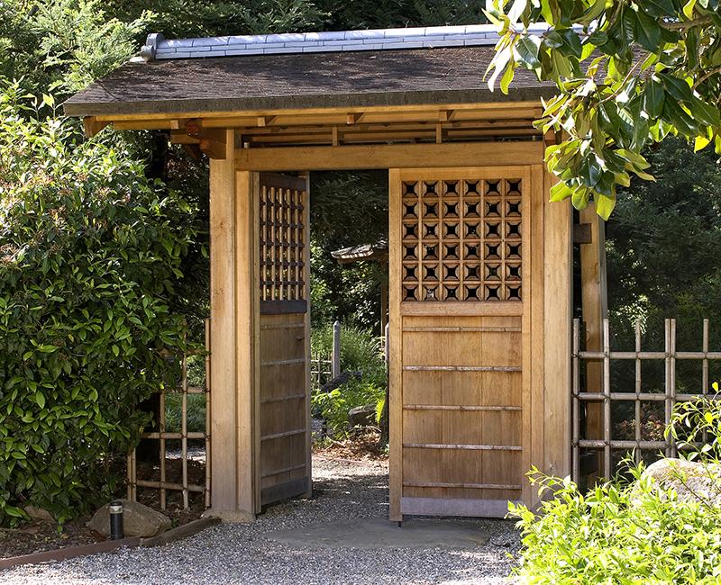 Japanese Entrance Gate Teahouse Japanese Bridge Ca