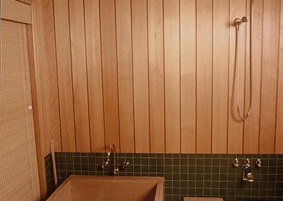 Japanese Style Bathing Room Wooden Soaking Tub Ofuro