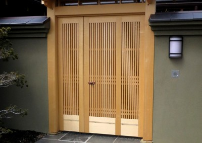 & Japanese-style entrance gate Japanese door | TiburonCA pezcame.com